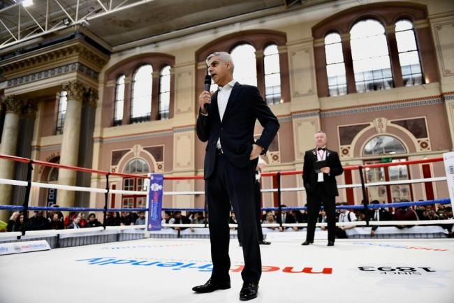 The Mayor spoke at Alexandra Palace on Thursday