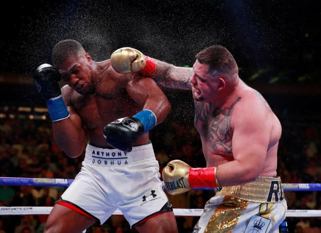 Andy Ruiz Jr lands a blow during his shock victory last month. Picture: Action Images