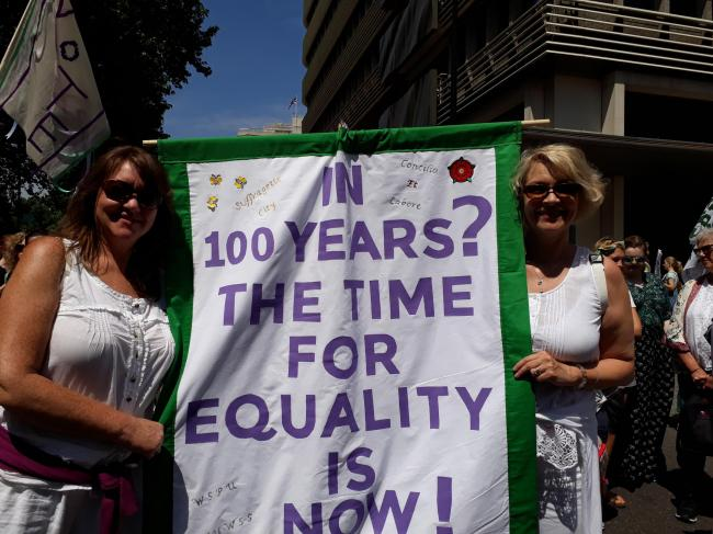Beverley (right) will take part in the protest