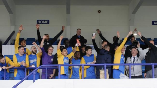 Highgate Albion celebrating their Senior Cup success last season.
