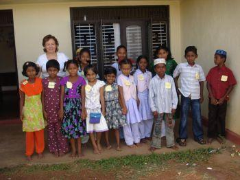 Life-changing: Anna Felice spent three weeks in Sri Lanka helping disabled children