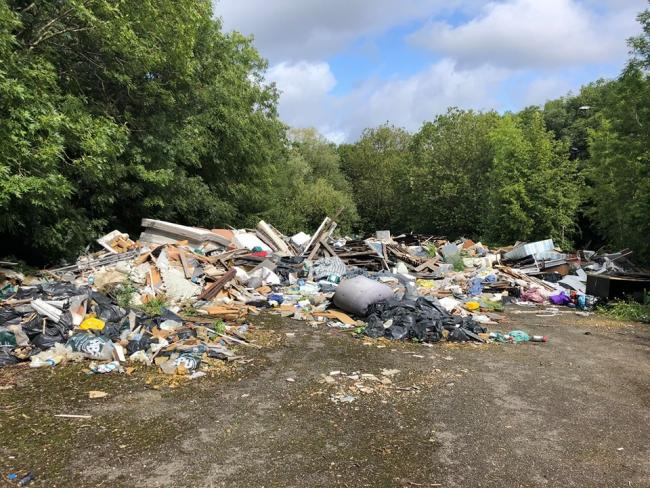 Just some of the rubbish which was photographed. Credit: Mark Warren/Facebook: Inside Mill Hill