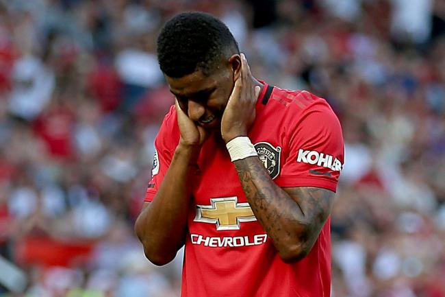Marcus Rashford after missing his first ever penalty in a professional match.