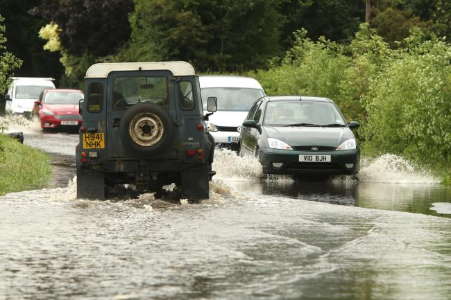 Met Office has warned of rain and flooding. Photo: Mark Soanes