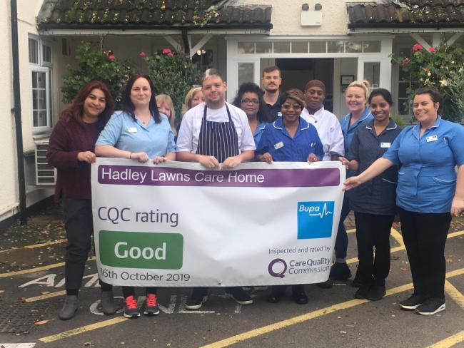 Staff at the care home were happy it recieved a 'good' rating