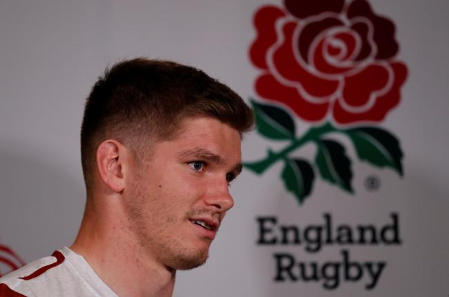 Owen Farrell facing the media ahead of Saturday's final. Picture: Action Images