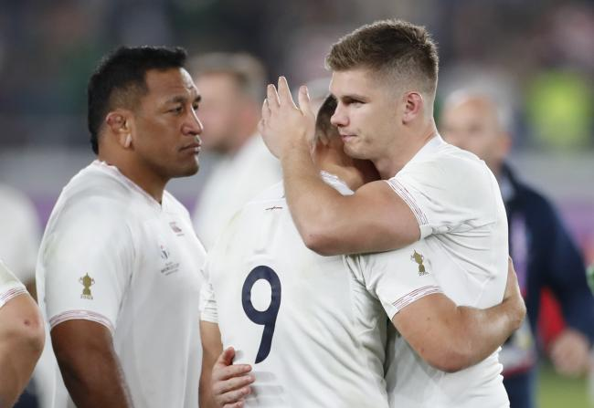 Owen Farrell consoles Ben Youngs after England's defeat. Picture: Action Images