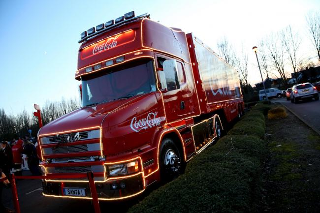 The Coca Cola truck tour is an annual event. Photo: Holly Cant