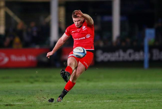 Owen Farrell kicked 20 points for Saracens. Picture: Action Images