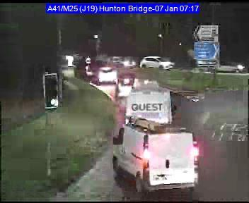 Drivers queuing into Hempstead Road from Hunton Bridge roundabout. Photo: Herts Highways