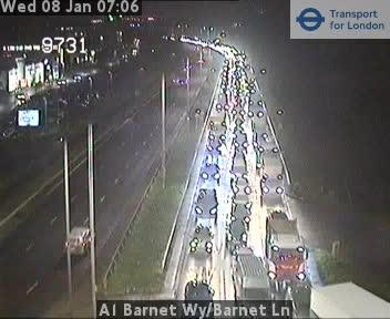 A1 Barnet Way - A411 Barnet Lane has traffic issues of its own.