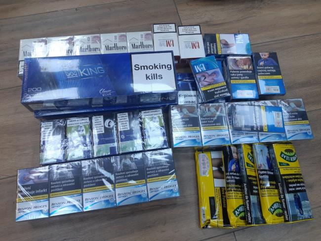 The illegal tobacco products seized (photo Hertfordshire Constabulary)