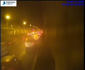 Traffic is starting to queue near Enfield (Highways England)