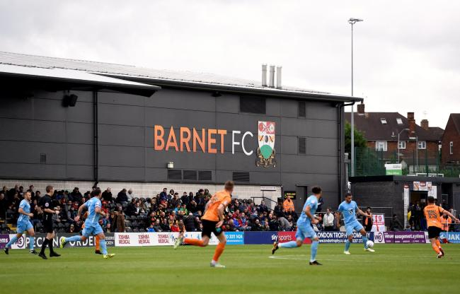 Barnet's National League game at home to Harrogate Town was abandoned at half-time. Picture: Action Images