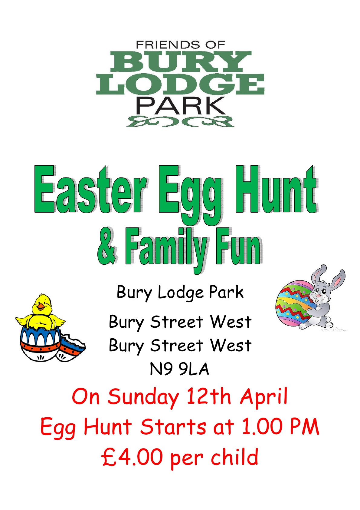 Friends of Bury Lodge Easter Egg Hunt