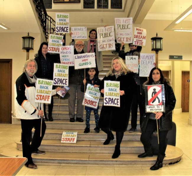 Supporters of Save Barnet Libraries protest against service cuts (Image: Erini Rodis)