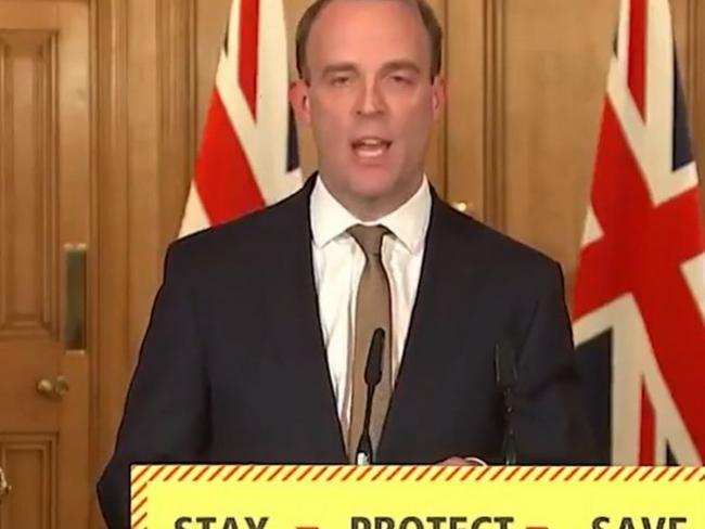 Dominic Raab says the Government will spend £75 millin to bring Brits home (Photo: BBC).