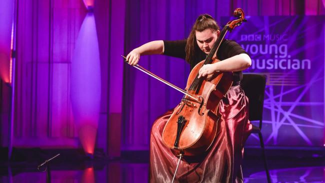 Ellen Baumring-Gledhill has reached the string category finals for BBC Young Musician. Credit: BBC