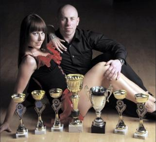Best foot forward: salsa dance couple Remigiusz Kubas and Karolina Przybylska won the north-west competition at the UKA British Championships in Preston earlier this month. The pair train at Carey Hall in Claremont Road, Cricklewood NL14258