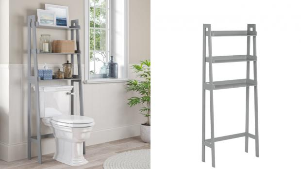 Times Series: Over-the-toilet units provide a lot more storage space. Credit: Wayfair