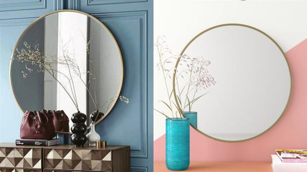 Times Series: A bigger, more modern mirror will create the illusion of more space. Credit: Wayfair