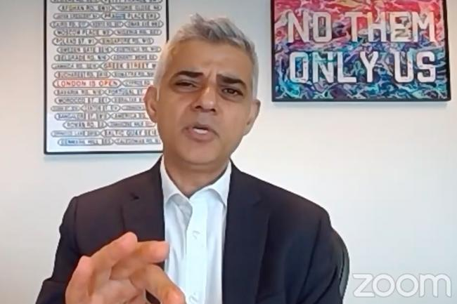 Sadiq Khan says climate change is the 'defining issue of our generation' (Photo: Centre for London / Zoom).