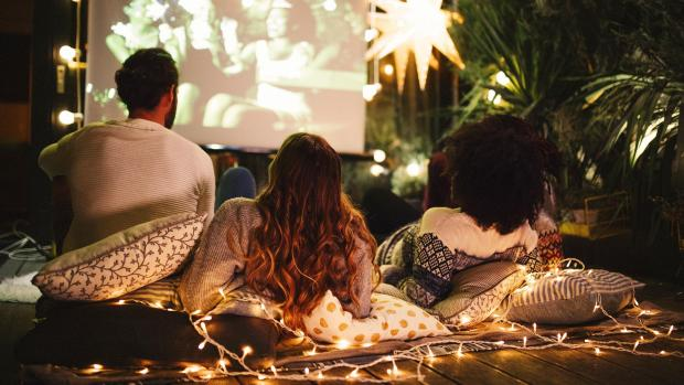 Times Series: Sit back and relax with a projector and outdoor screen. Credit: Getty Images / M_A_Y_A