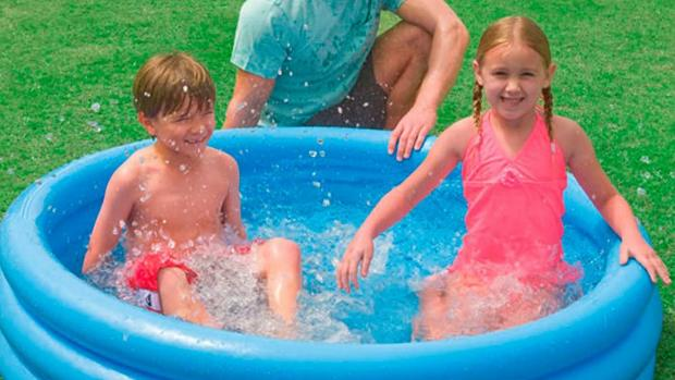 Times Series: Lower your body temp with this inflatable pool. Credit: Intex