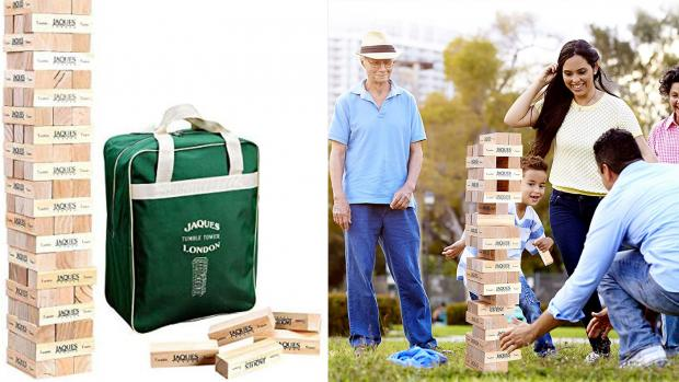 Times Series: This big tumbling blocks game ups the stakes. Credit: Jaques of London / Amazon