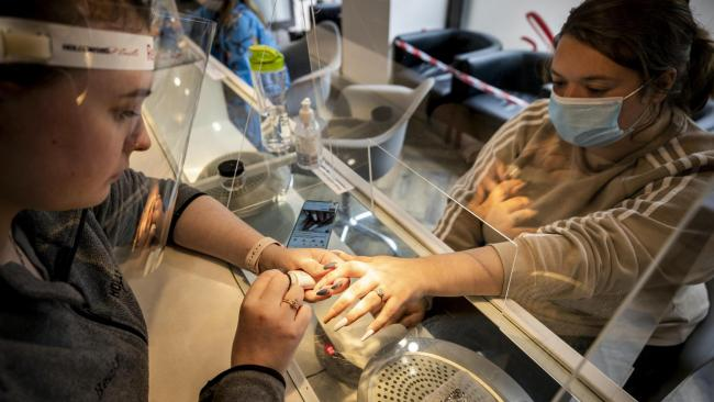 Nail bars and beauty salons are some of the businesses that will be allowed to reopen in England from Monday. Photo: PA
