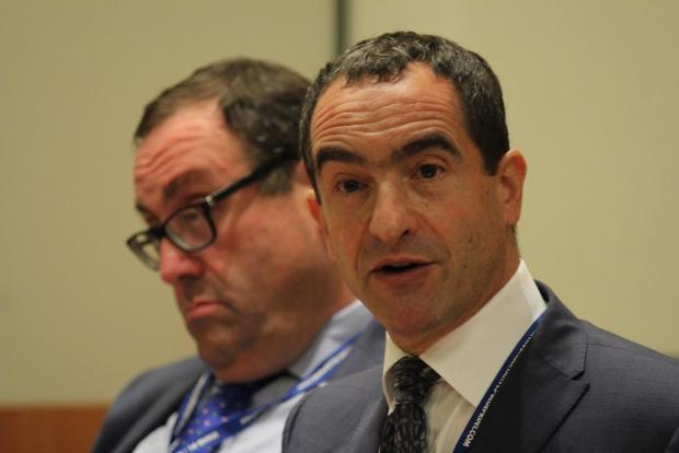 Times Series: Michael Liebreich (right) was on the TfL board for six year (Photo: Policy Exchange / Flickr).