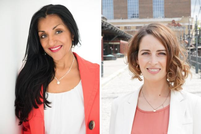 Geeta Sidhu-Robb and Luisa Porritt. Photos: London Lib Dems