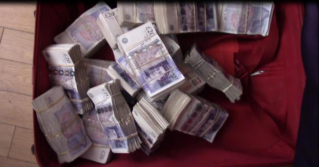 Cash seized. Credit: National Crime Agency
