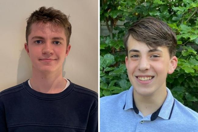 Top reporters for 2019/20 - Josh Bartholomew (left) from Hampton School and Nicholas James from Wilson's School