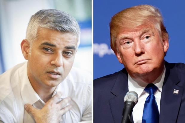 Times Series: Sadiq Khan (left) and Donald Trump have clashed repeatedly since 2015.