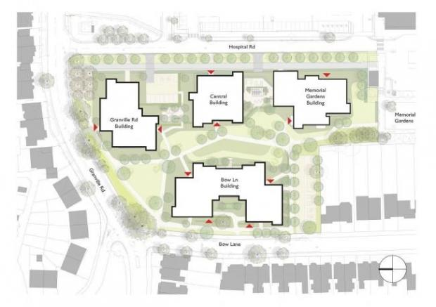 Times Series: A site plan of the proposed housing scheme