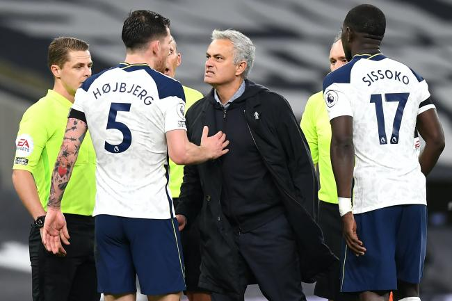 Jose Mourinho, right, guided Spurs to the top of the table with a 2-0 win over Manchester City
