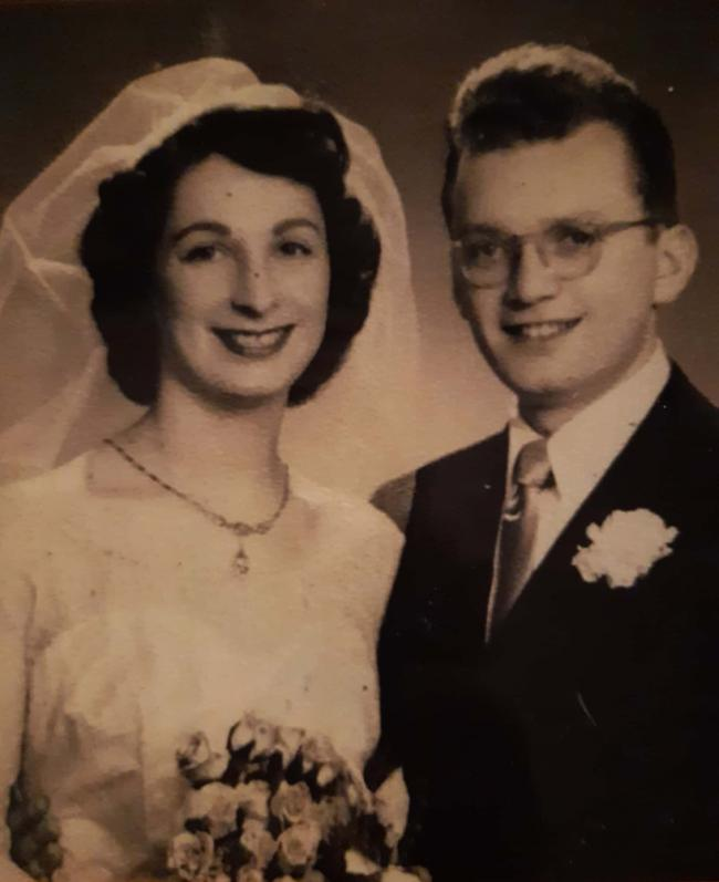 Freddie and Freda Knoller on their wedding day