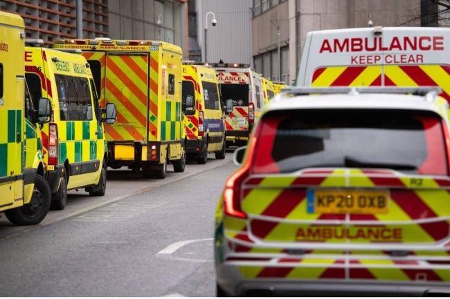The London Ambulance Service is dealing with a record amount of callouts. Credit: PA