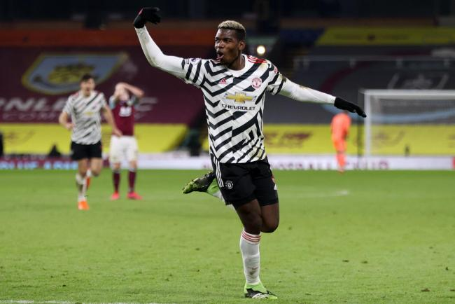 Paul Pogba celebrates his winning goal