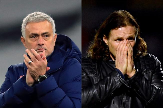 Jose Mourinho, left, is full of admiration for Gareth Ainsworth, right (Adam Davy/Simon Galloway/PA)