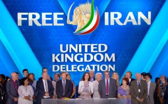 British MP's captured on video at the Free Iran rally in France in 2018