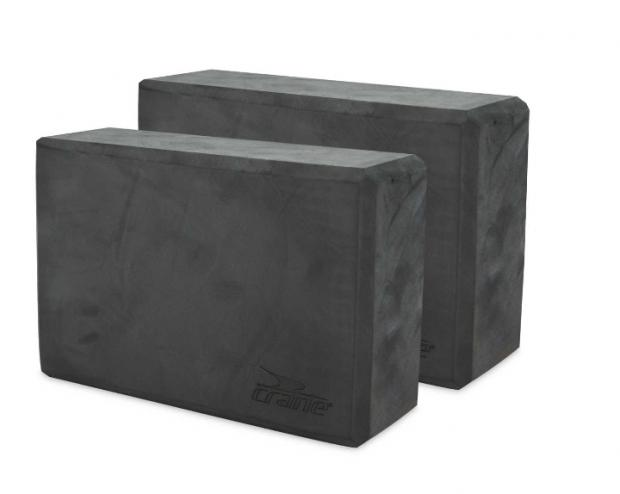 Times Series: Crane Dark Grey Yoga Block 2 Pack. (Aldi)