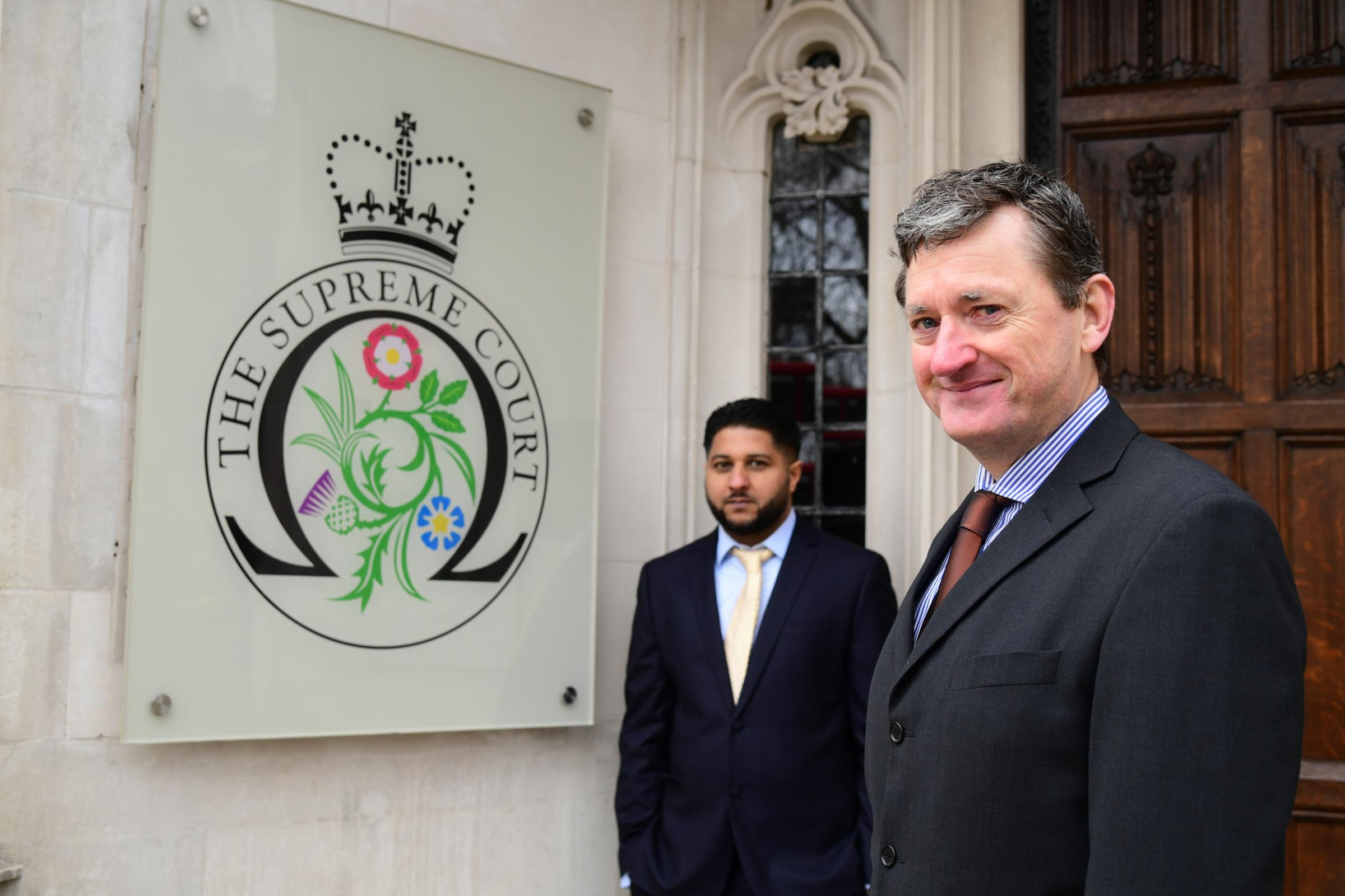 Former Uber drivers Yaseen Aslam (left) and James Farrar (right) had their initial Employment Tribunal decision upheld in the Supreme Court. Credit: PA