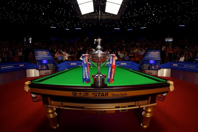 The trophy at the Crucible Theatre