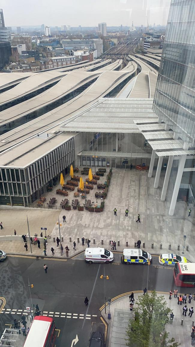 London Bridge station evacuated after reports of suspicious item on board train (Credit - Holly Jones)