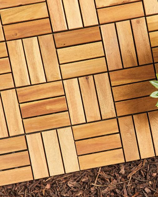 Times Series: Two Direction Wooden Decking Tiles. (Aldi)