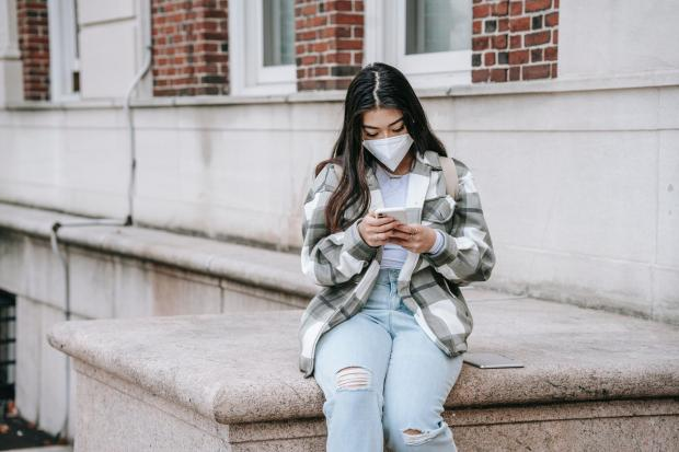 Times Series: A girl using a mobile phone