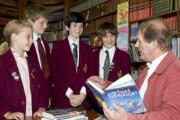 Michael Morpurgo entertained some lucky pupils in the library at Beechwood Park