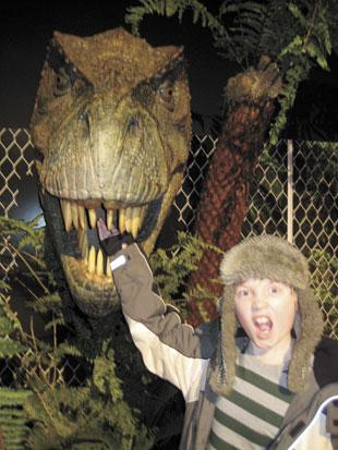 T-Rex photo opportunity at Dinosaurs Unleashed